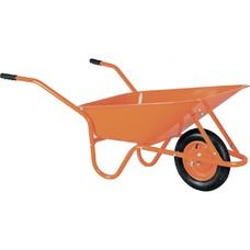 Тачка садово-строительная ТСО-02/01, крашенный кузов, цельнолитое колесо,грузоподъемность 120 кг, объем 90 л.