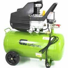 Компрессор воздушный КК-1500/50, 1,5 кВт, 198 л/мин, 50 л, прямой привод, масляный СибрТех [58039]