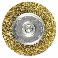Щетка для дрели, 30 мм, плоская со шпилькой, латунированная витая проволока Matrix [74440]