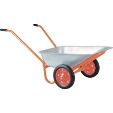 Тачка садово-строительная ТСО-2-02/01. ОЦ, двухколесная, цельнолитое колесо, грузоподъемность 120 кг, объем 90 л.