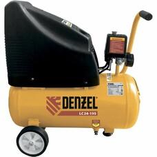 Компрессор воздушный безмасляный LC 24-195, 1.1 кВт, 195 л/мин, 24л, 8 бар Denzel [58072]
