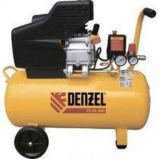 Компрессор воздушный PC 50-260, 1.8 кВт, 260л/мин, 50л, 10 бар Denzel [58073]