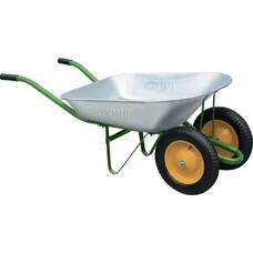 Тачка садовая, два колеса, грузоподъемность 170 кг, объем 78 литров Palisad [689223]
