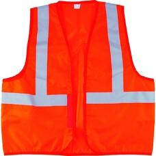 Жилет сигнальный, оранжевый, размер XL СибрТех [89513]