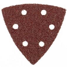 """Треугольник абразивный на ворсовой подложке под """"липучку"""", перф., P 100, 93 мм, 5 шт. Matrix [73861]"""