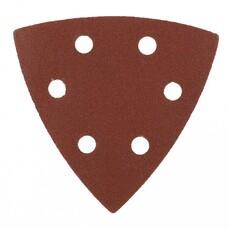"""Треугольник абразивный на ворсовой подложке под """"липучку"""", перф., P 180, 93 мм, 5 шт. Matrix [73864]"""