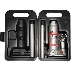 Домкрат гидравлический бутылочный, 2 т, h подъема 181–345 мм, в пласт. кейсе Matrix [50750]