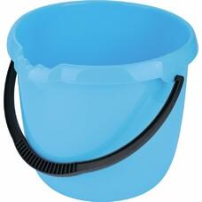 Ведро пластмассовое круглое 12л, голубое ТМ Elfe [92956]