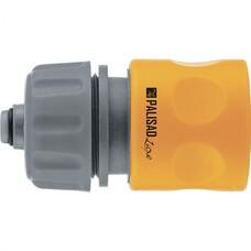 """Соединитель пластмассовый быстросъемный для шланга 3/4"""", аквастоп, однокомпонентный Palisad LUXE [66259]"""