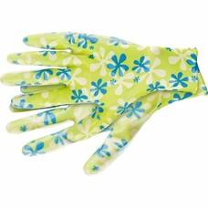 Перчатки садовые из полиэстера с нитриловым обливом, зеленые, M Palisad [67742]