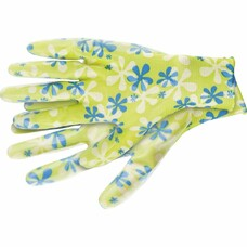 Перчатки садовые из полиэстера с нитриловым обливом, зеленые, S Palisad [67741]