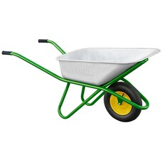 Тачка садово-строительная, усиленная, грузоподъемность 200 кг, объем 90 л Palisad [68918]