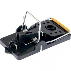 Мышеловка-крысоловка пластиковая открытая, металлический механизм, большая, 140х75 мм СибрТех [94123]