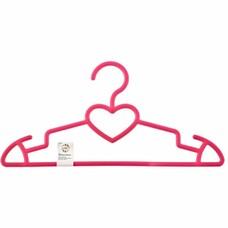 Вешалка сердечко для верхней одежды пластиковая, цветная 41 см. Elfe [92932]