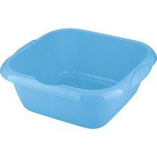 Таз пластмассовый квадратный 12л, голубой ТМ Elfe [92985]