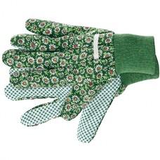Перчатки садовые х/б ткань с ПВХ точкой, манжет, M Palisad [67762]