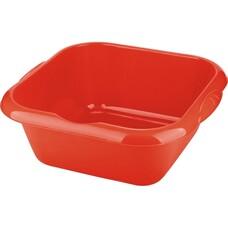 Таз пластмассовый квадратный 18л, красный ТМ Elfe [92987]