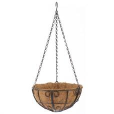 Подвесное кашпо с декором, 25 см, с кокосовой корзиной// Palisad [69005]
