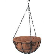 Подвесное кашпо с декором, 30 см, с кокосовой корзиной// Palisad [69010]