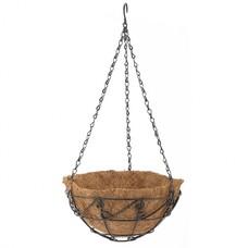 Подвесное кашпо с орнаментом, 25 см, с кокосовой корзиной// Palisad [69003]