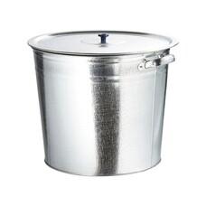 Бак для воды оцинкованный с крышкой (крышка с ручкой) 20 литров, без крана