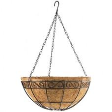 Подвесное кашпо с орнаментом, 30 см, с кокосовой корзиной// Palisad [69004]
