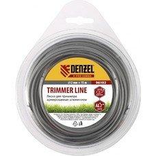 Леска для триммера армированная алюминием ,X-Pro, круглая, 2,0мм х 15м, блистер// Denzel [96192]
