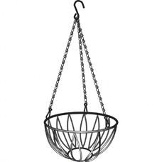 Подвесное кашпо, диаметр 25,4 см, высота с цепью и крюком 53,5 см// Palisad [69016]