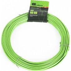 Проволока для подвязки,стальная в ПВХ (зелёный) 25 м ,  внутр. 1,6 мм  / внеш. 3,0 мм //СибрТех [64380]