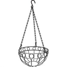 Подвесное кашпо, диаметр 26 см, высота с цепью и крюком 53,5 см// Palisad [69015]