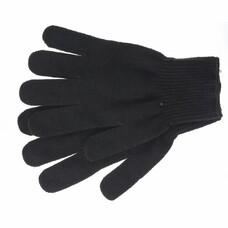 Перчатки трикотажные, акрил, цвет: чёрный, оверлок СибрТех [68651]