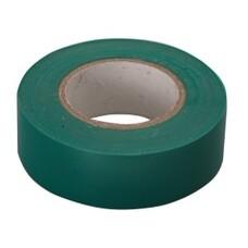 Изолента ПВХ, 15 мм х 10 м, зеленая СибрТех [88791]