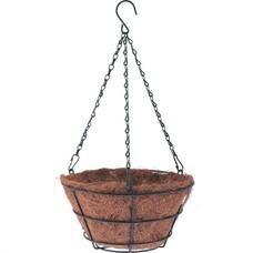 Кашпо подвесное с вкладышем из коковиты, конус D 35 см. Palisad [69022]