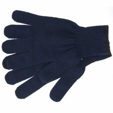 Перчатки трикотажные, акрил, цвет: синий, оверлок СибрТех [68655]