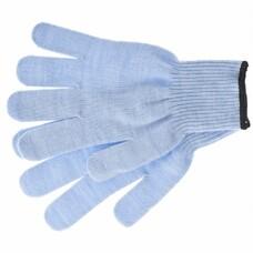 Перчатки трикотажные, акрил, цвет: голубой, оверлок СибрТех [68656]