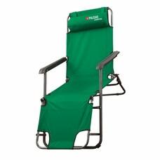 Кресло-шезлонг двухпозиционное 156*60*82cm Palisad Camping [69587]