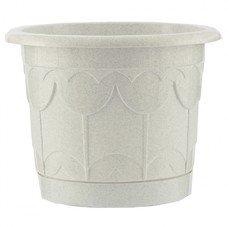 Горшок Тюльпан с поддоном, мрамор, 6 литров Palisad [69234]