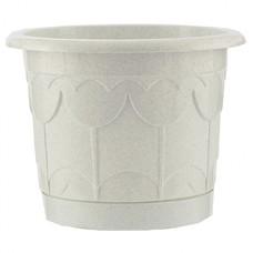 Горшок Тюльпан с поддоном, мрамор, 8,5 литра Palisad [69235]