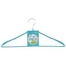 Вешалка металлическая для верхней одежды с прорезиненным противоскользящим покрытием 45 см, бирюзовая Elfe [92926]
