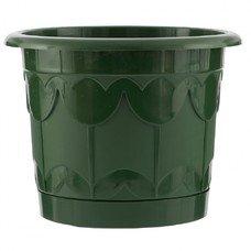 Горшок Тюльпан с поддоном, зеленый, 6 литров Palisad [69239]
