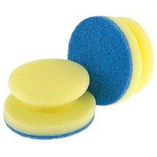 Губки для посуды c тефлоновым покрытием, круглые, d 95*50 мм, 2 шт. в картоне ТМ Elfe [92361]