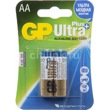 Батарейка GP Ultra Plus Alkaline 15AUP LR6, 2 шт. AA