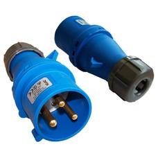 Вилка Lanmaster LAN-IEC-309-32A1P/M IEC 309 32A 250V blue