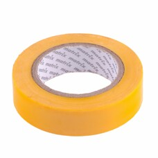 Изолента ПВХ, 15 мм х 10 м, желтая, 150 мкм Matrix [88773]