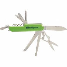 Нож многофункциональный, компактный размер, 15 функций, 90 мм СибрТех [17626]