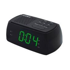 Радиобудильник SUPRA SA-45FM, зеленая подсветка, черный