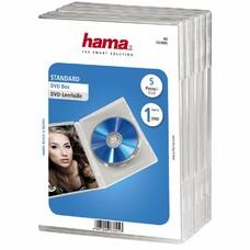 Коробка HAMA H-83895 Jewel Case, 5шт., прозрачный [00083895]