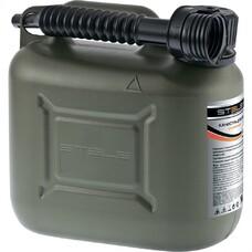 Канистра для ГСМ вертикальная 10 литров, пластиковая, усиленная Stels [53126]
