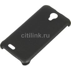 Чехол (клип-кейс) skinBOX Leather Shield, для Digma Q400 3G HIT, черный [t-s-dq4003gh-009]