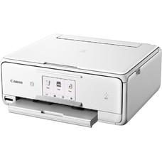 МФУ струйный CANON Pixma TS8040, A4, цветной, струйный, белый [1369c027]
